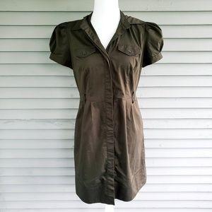Worthington Dark Green Button Up Dress Size 6
